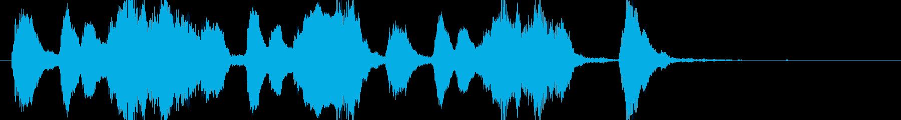 ファゴットの怪しいコミカルなジングルの再生済みの波形