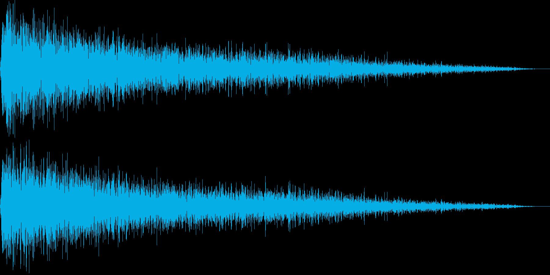 「ガーン!」ピアノでショック!(長め)の再生済みの波形