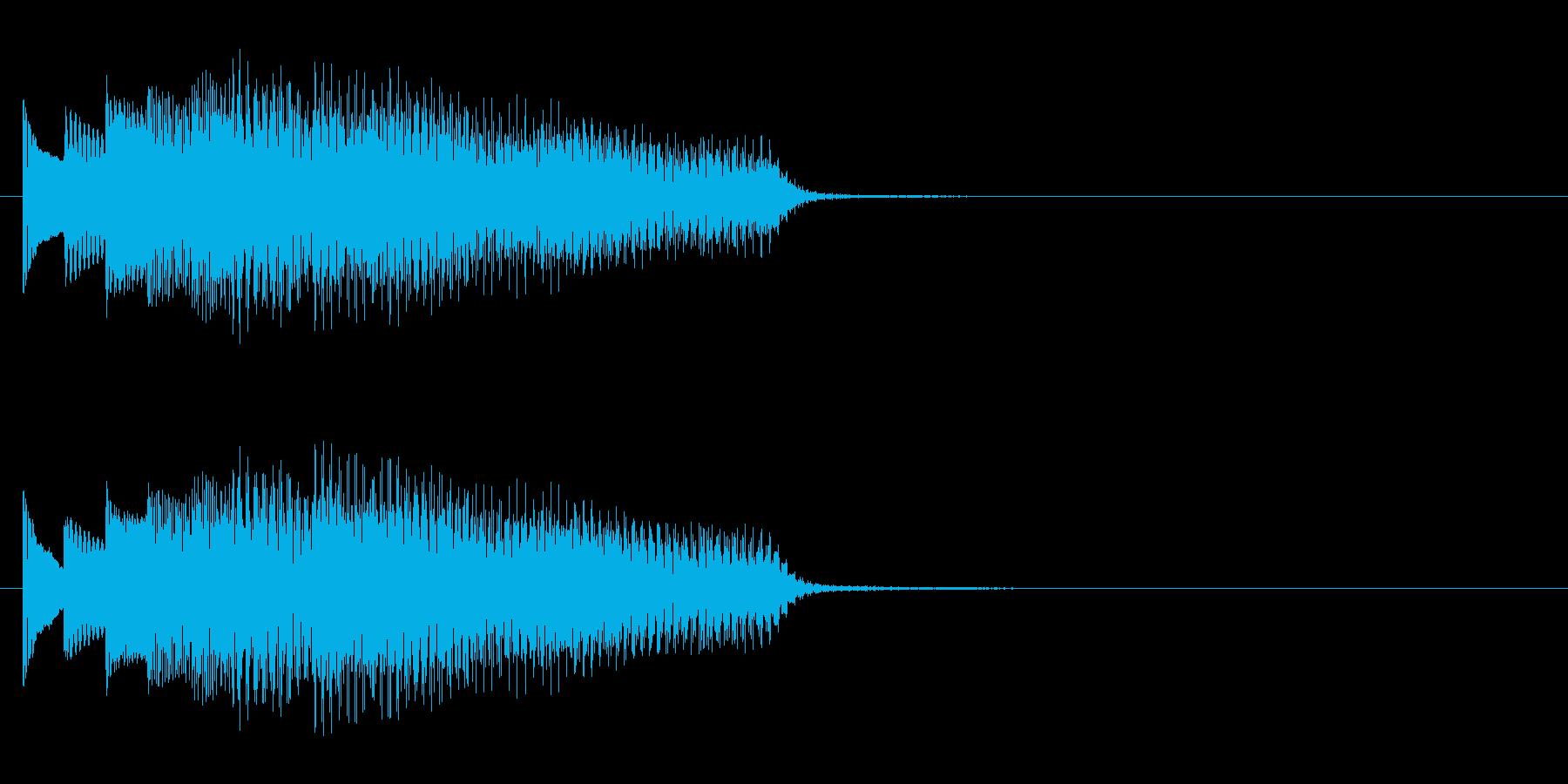 怪盗4 ノーマルカード入手 正解の再生済みの波形