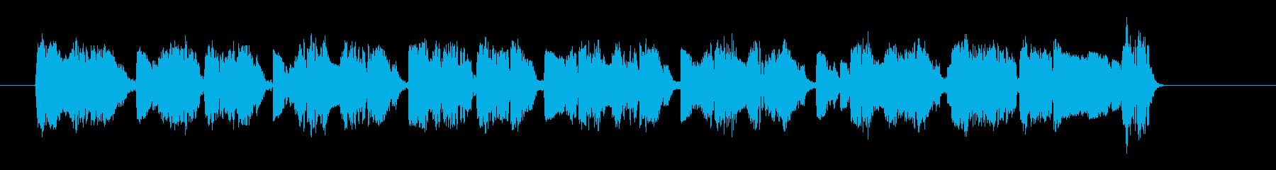 ザラついたサウンドのダンスナンバーの再生済みの波形