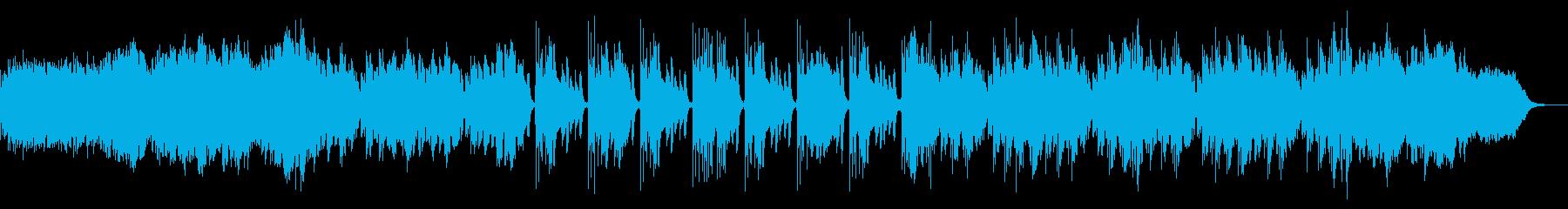 和風のポップなドラムンベースの再生済みの波形