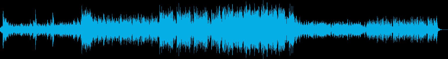 シンプルなバンド編成の曲の再生済みの波形