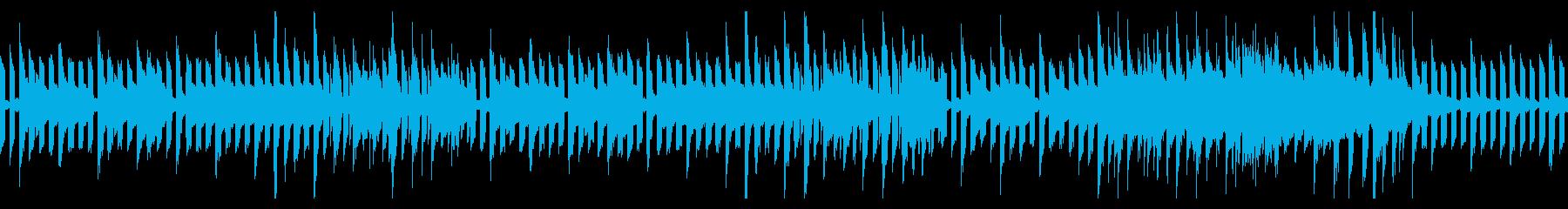 ピコピコした日常系のループBGMの再生済みの波形