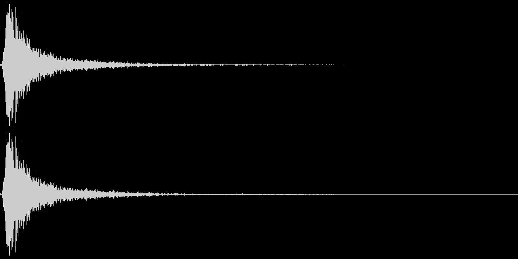 ドアメタルバンガラガラの未再生の波形