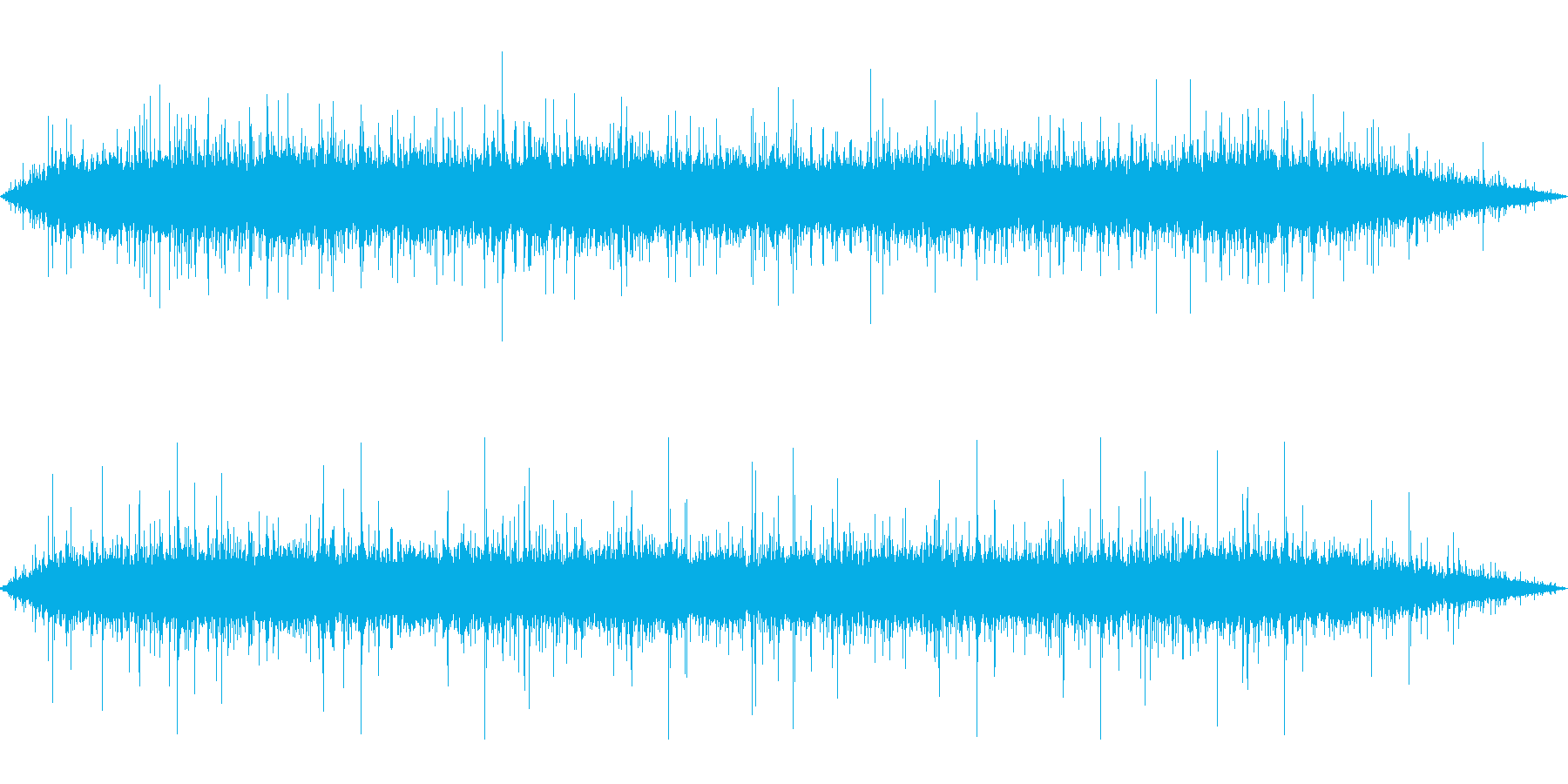 雨 雨音(家、屋根、窓などに当たる音)7の再生済みの波形