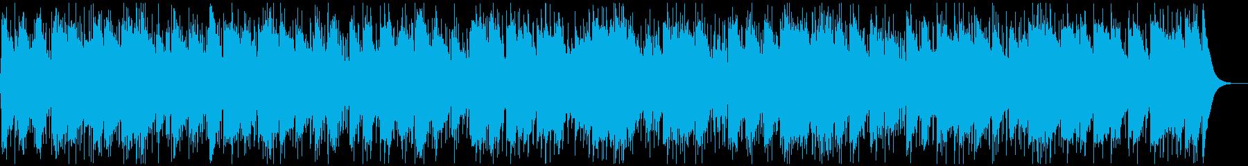 シンプル重厚なハードロックバラードBGMの再生済みの波形