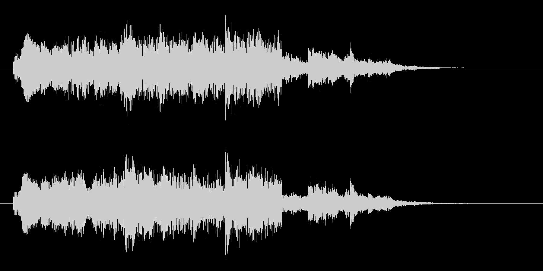 シンセ音のサウンドロゴの未再生の波形