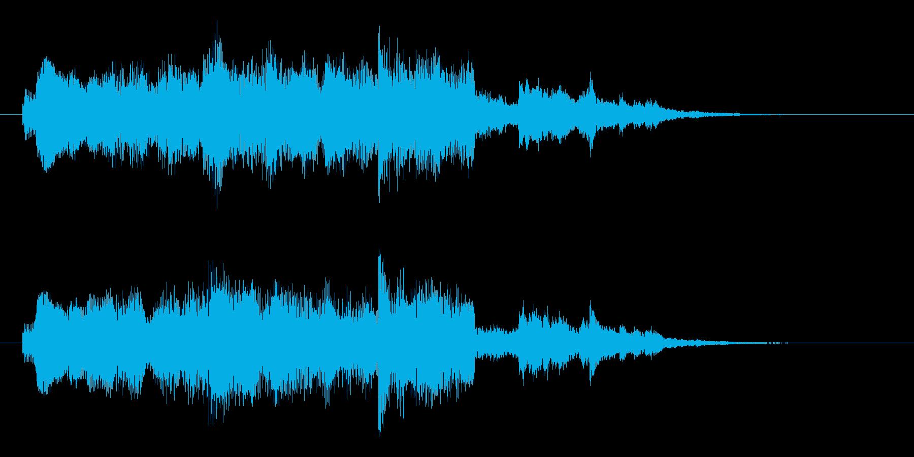 シンセ音のサウンドロゴの再生済みの波形