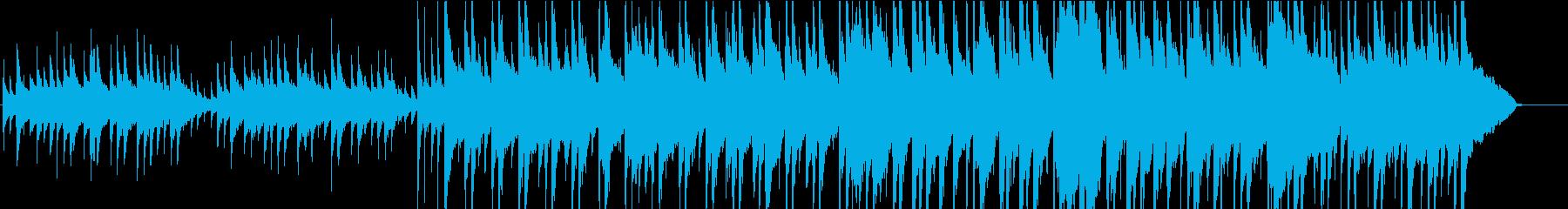 和風で落ち着いたイメージのBGMの再生済みの波形