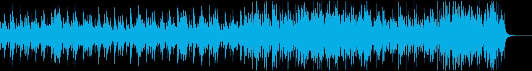 シンプルな和楽器とミディアム和テイスの再生済みの波形