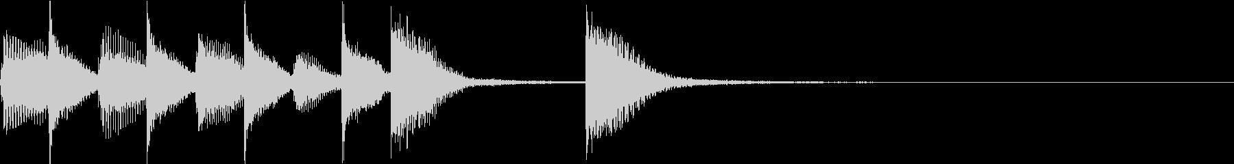 ピアノジングル 幼児向けアニメ系F-01の未再生の波形