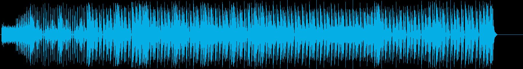 リズミカルで疾走感のあるBGMの再生済みの波形
