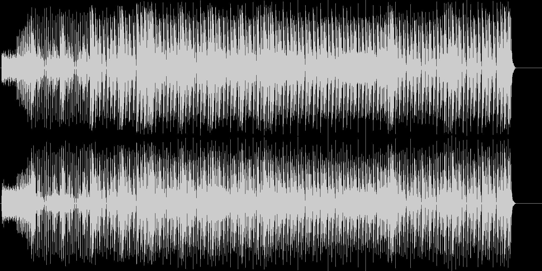 リズミカルで疾走感のあるBGMの未再生の波形