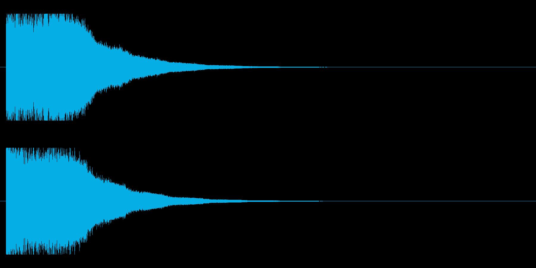 レーザー音-85-2の再生済みの波形