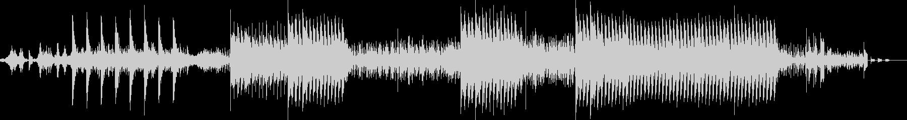 和の音で不思議な感じのBGMの未再生の波形
