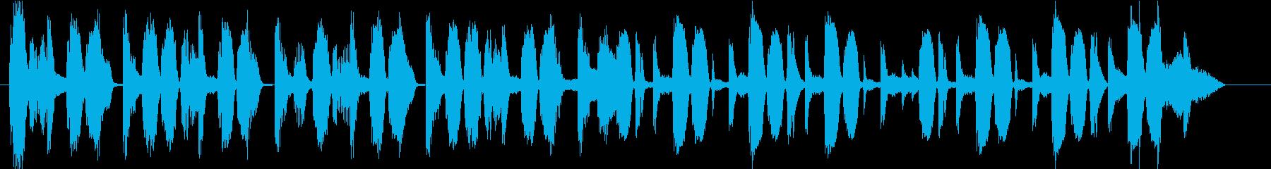 場面転換などに使える無機質なジングルの再生済みの波形