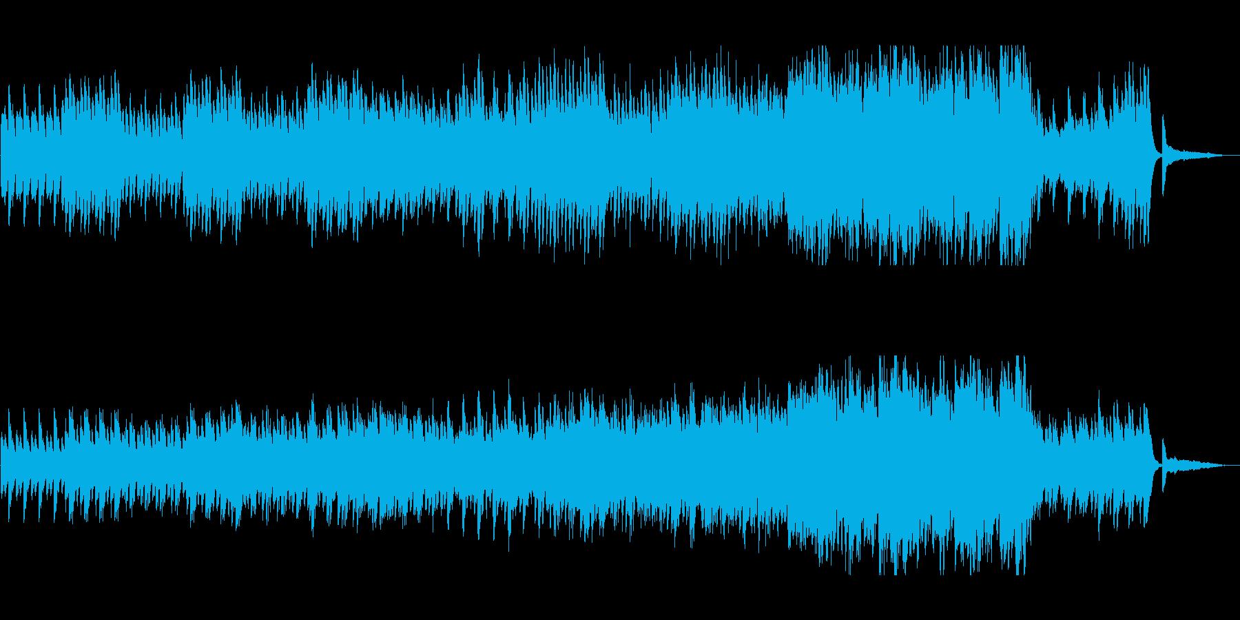 ピアノの単調な繰り返しが印象的なポップスの再生済みの波形