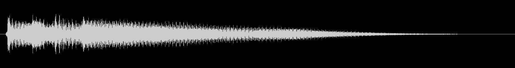 アコースティックギター ポロロンの未再生の波形