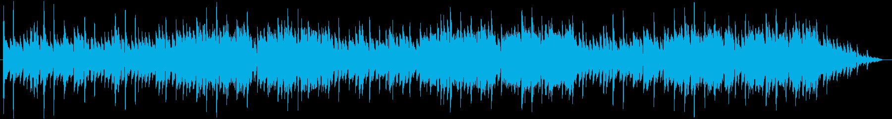 アコースティックギターメインの幻想的な曲の再生済みの波形