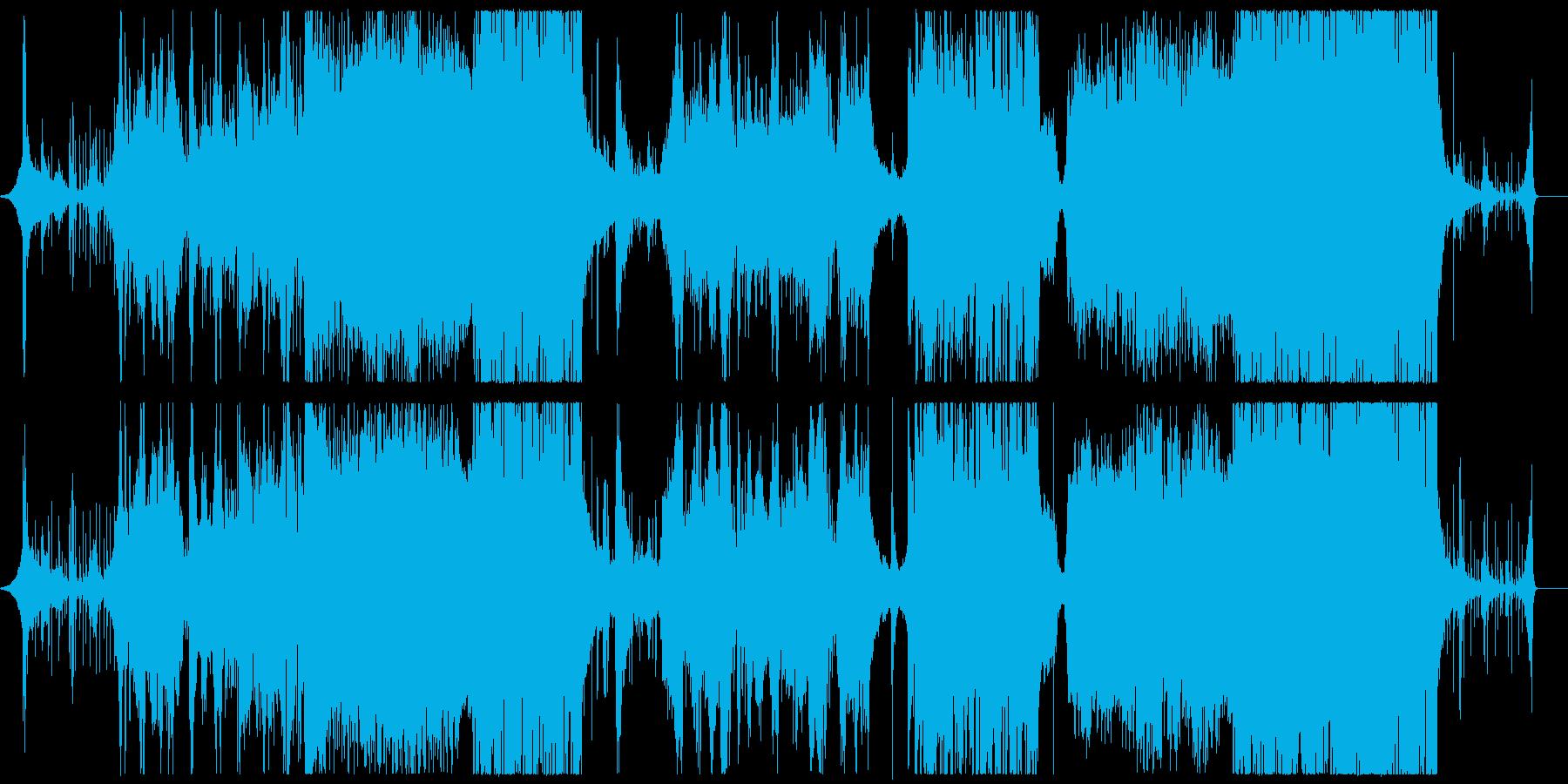 妖艶な雰囲気の和風音楽の再生済みの波形