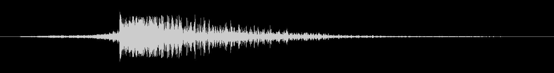 スペル ヒューシュ・ゴング01の未再生の波形
