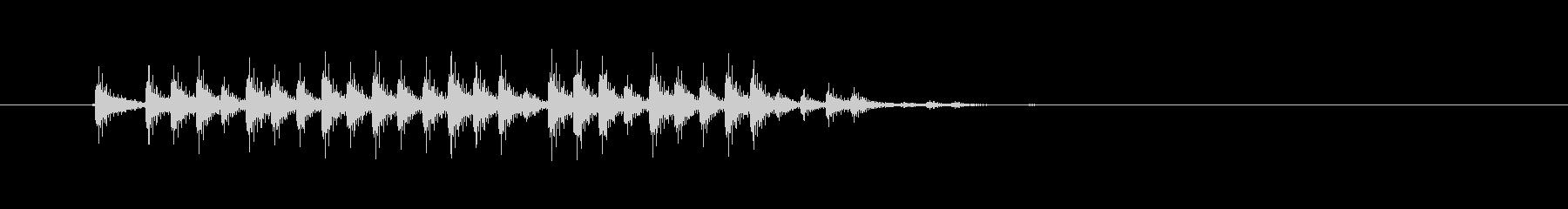 低音のリズムが走り抜けるロックの未再生の波形
