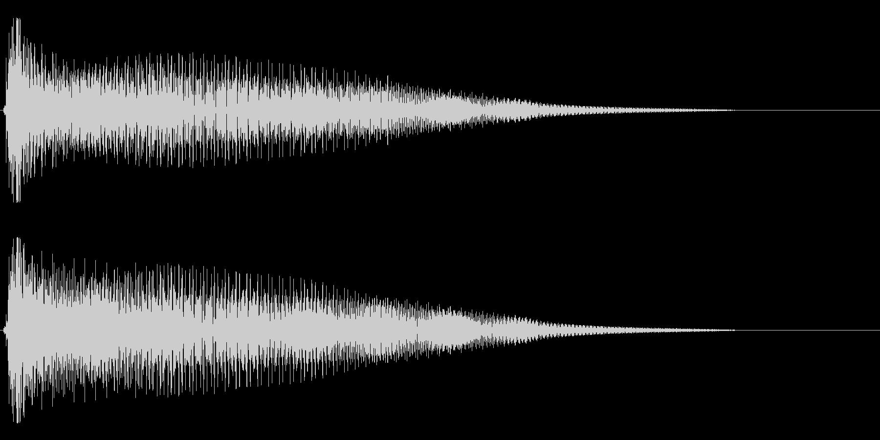 【斜に構える3】の未再生の波形