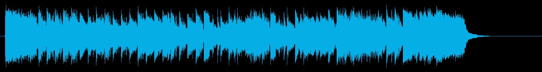 明るくアップテンポでポップな短い曲の再生済みの波形