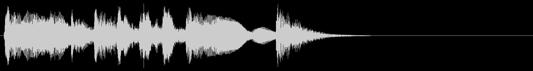 ジングル 2/7 ピッチカート かわいいの未再生の波形