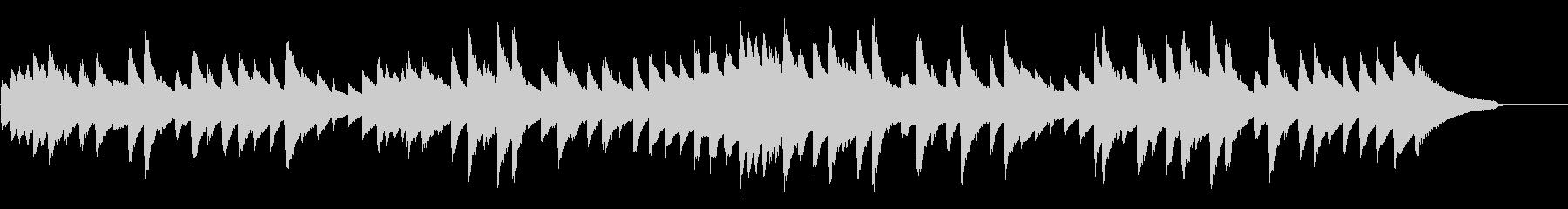 雨音をイメージした旋律のピアノソロの未再生の波形