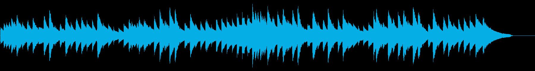 雨音をイメージした旋律のピアノソロの再生済みの波形