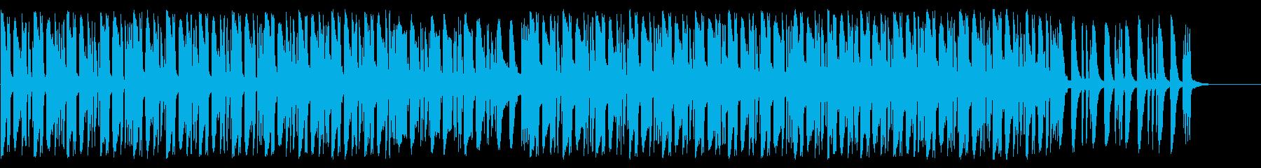 ローテンポで浮遊感のあるEDMの再生済みの波形