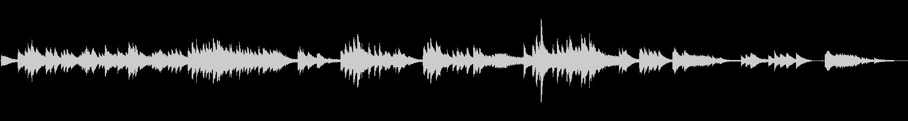 ダニーボーイの不思議なピアノソロアレンジの未再生の波形