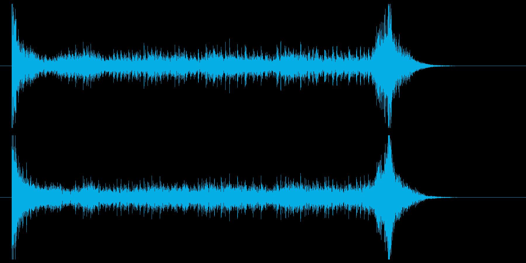 ティンパニーロール(8秒)の再生済みの波形