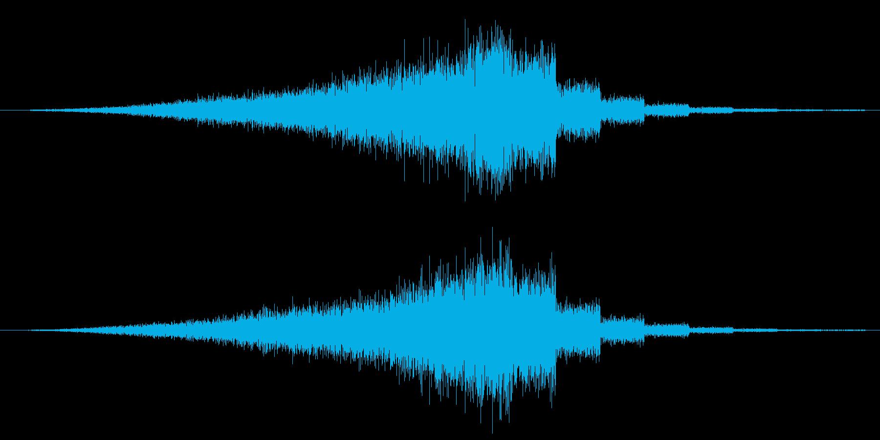 シャーッ+ブワワワ(敵出現時、ワープ音)の再生済みの波形