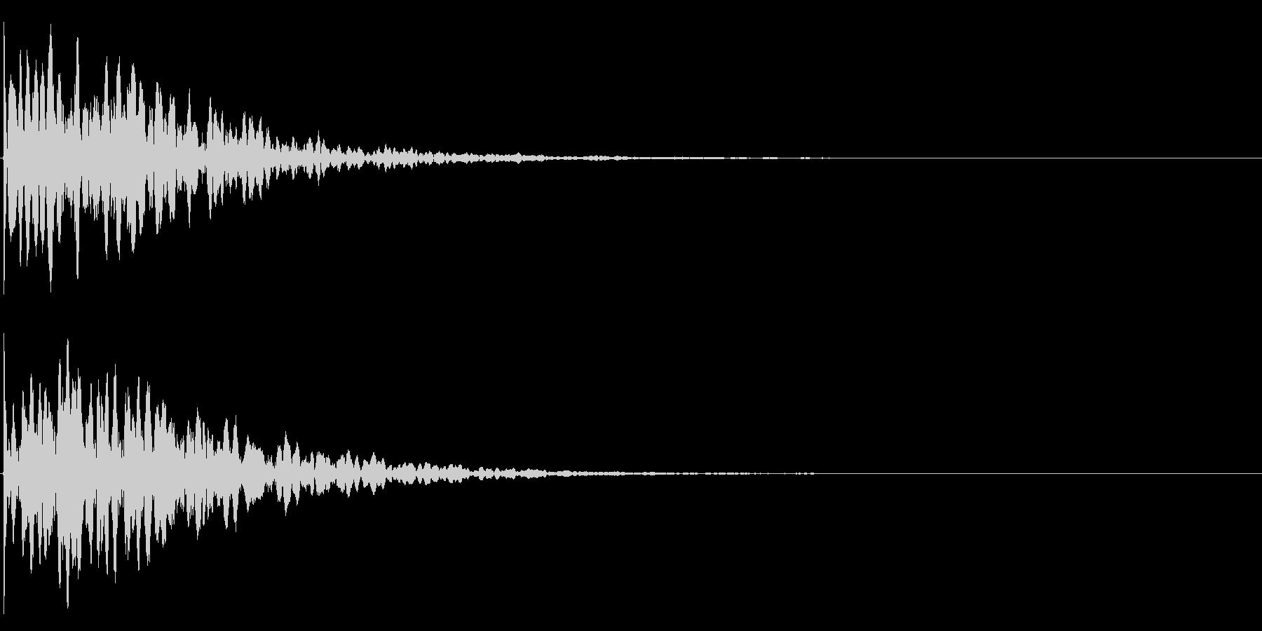 ゲームスタート、決定、ボタン音-123の未再生の波形