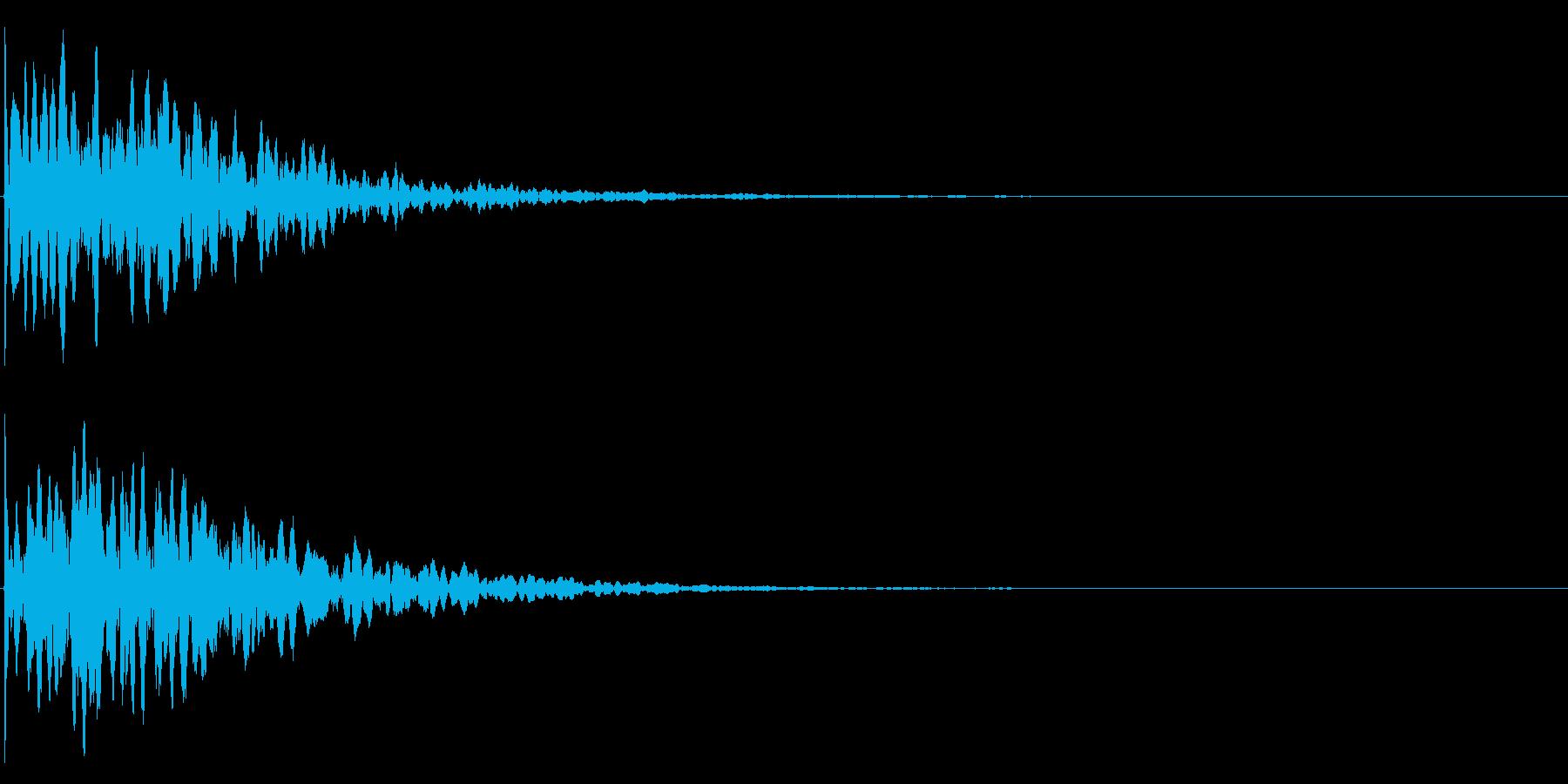 ゲームスタート、決定、ボタン音-123の再生済みの波形