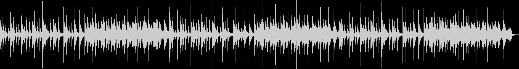ピアノ音楽を528hzにチューニングの未再生の波形