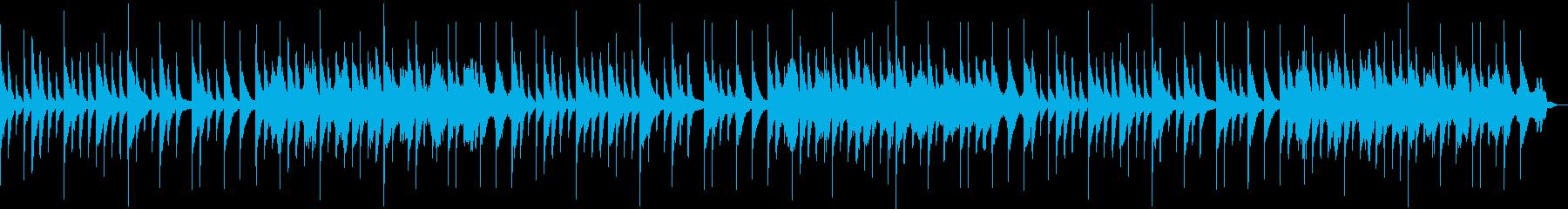 ピアノ音楽を528hzにチューニングの再生済みの波形