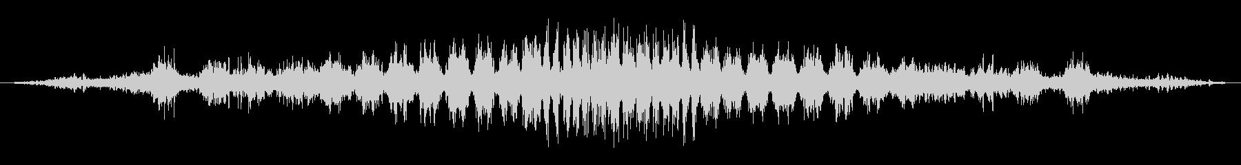 シュワシュワ(回転音)の未再生の波形