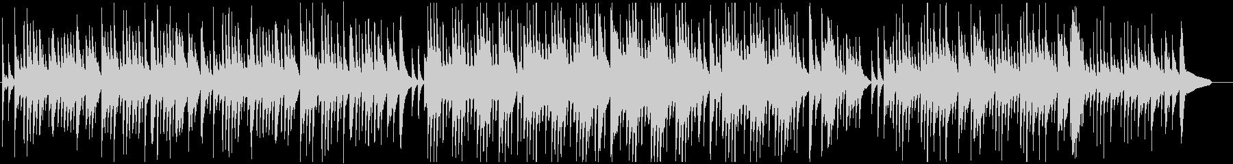 物悲しいバラード調のピアノソロの未再生の波形