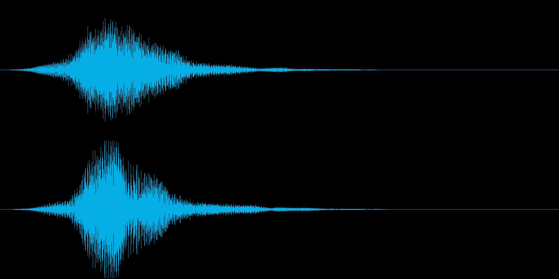 暗い雰囲気のサウンドロゴ1の再生済みの波形