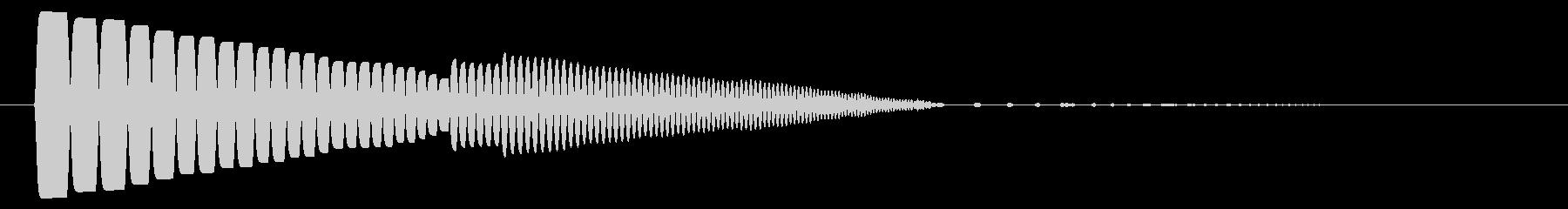 歩く音や決定音、クリック音かわいらしい音の未再生の波形