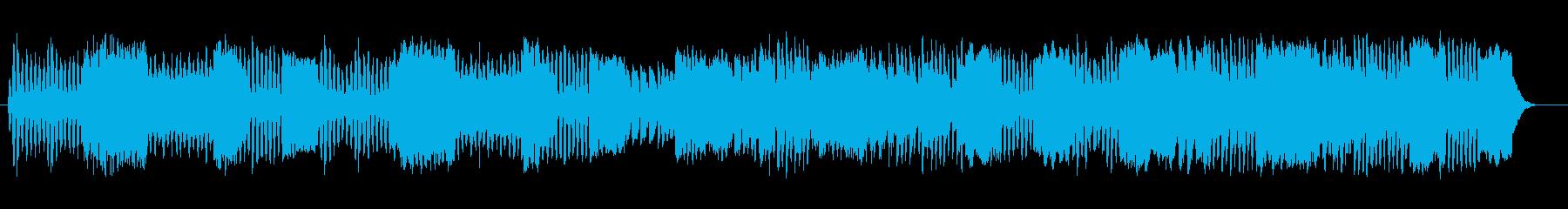 軽快なミディアムテンポのマーチの再生済みの波形