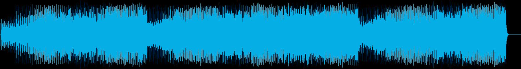 爆走する、迫りくるハードなイメージの再生済みの波形