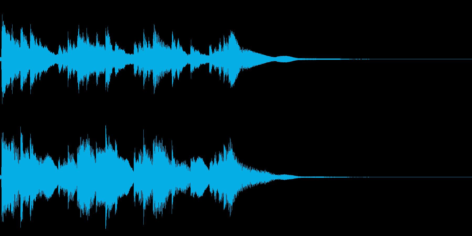 琴☆アイキャッチ2 リバーブ有の再生済みの波形
