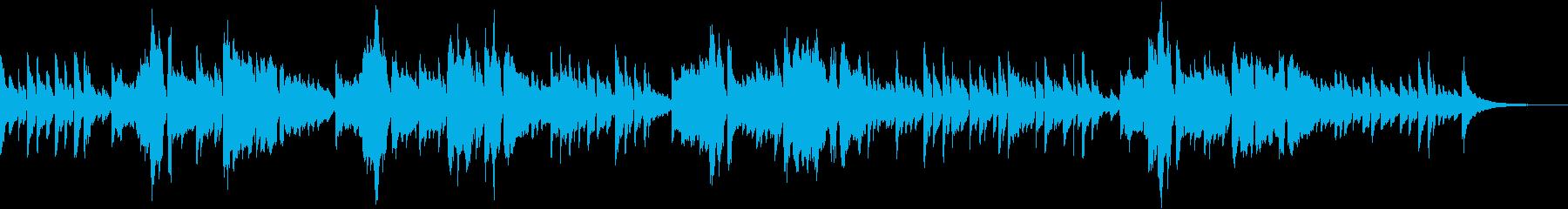 秋の歌、童謡赤とんぼの男声ギター弾き語りの再生済みの波形