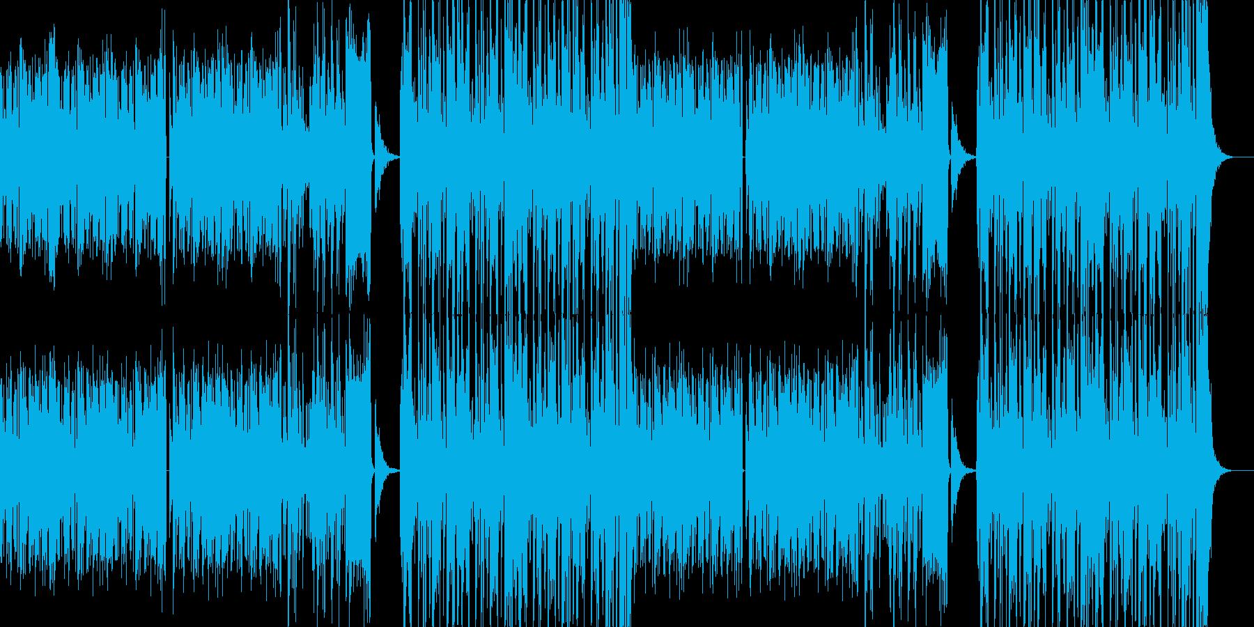 疾走感あるカッコいいダブステップ曲の再生済みの波形