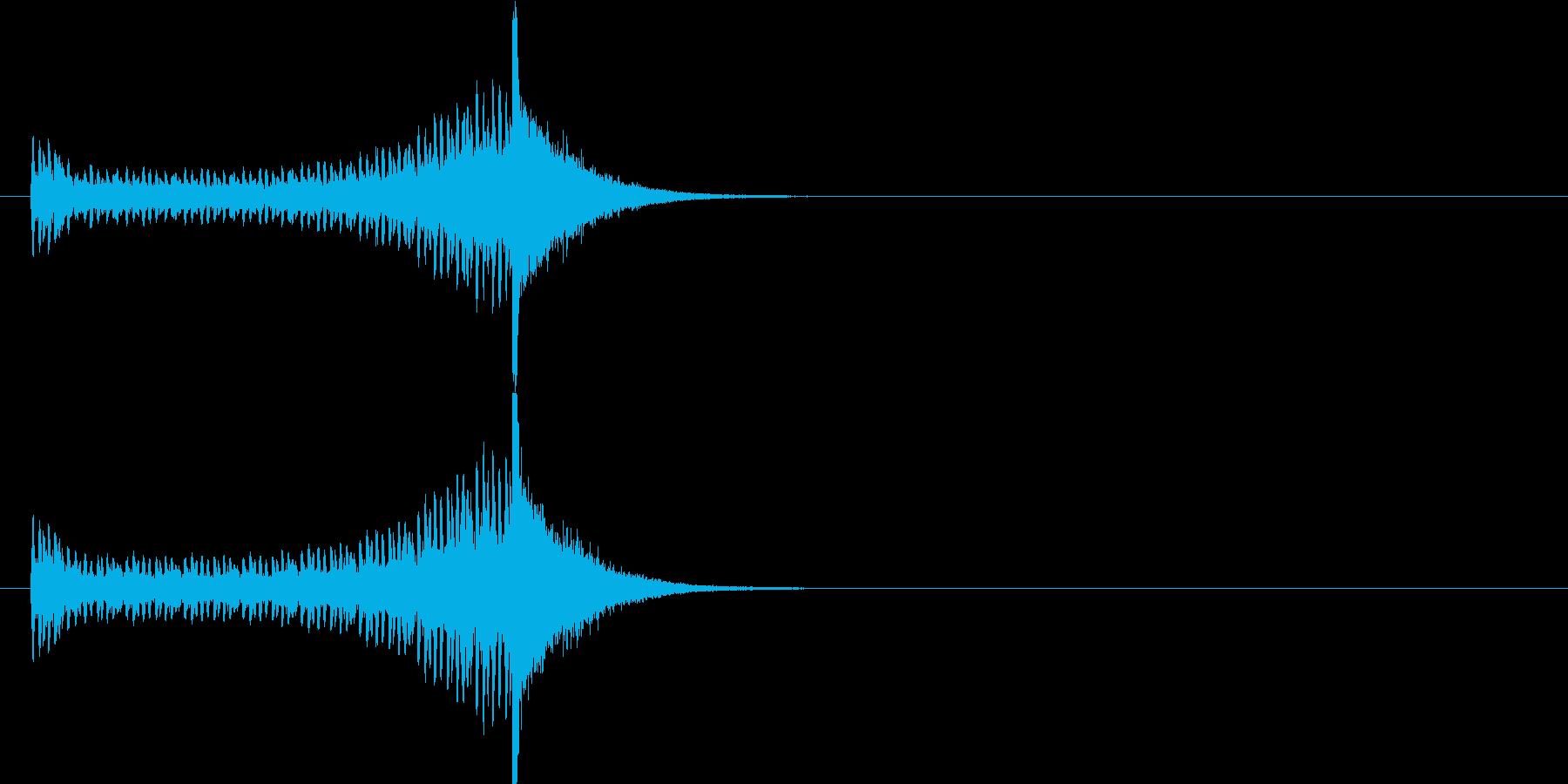 登場 ドラムロールの再生済みの波形