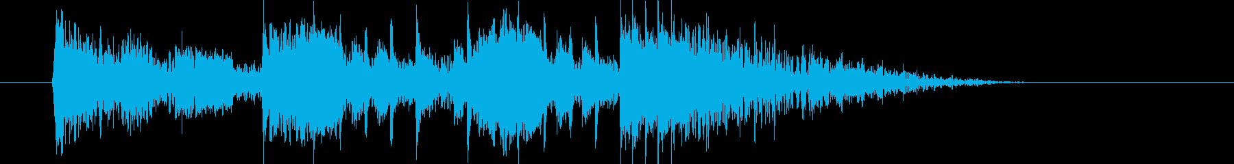 勢いとドキドキ感のサイレンシンセサウンドの再生済みの波形